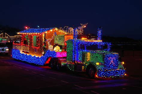 lenses  wheels christmas light truck parade