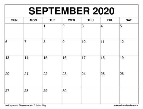 september  calendar september