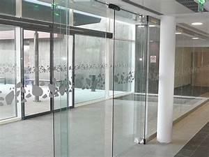 Vantail vitre pour portes automatiques porte coulissante for Porte de garage coulissante et double porte salon