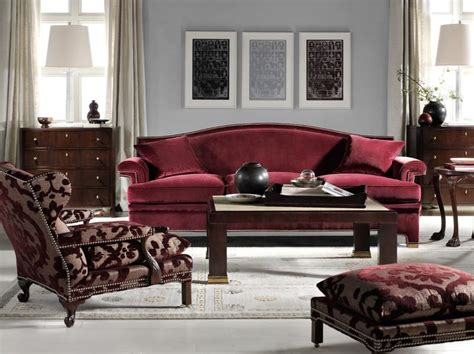 colour scheme for burgundy sofa hickory chair introduces the new thomas o 39 brien collection
