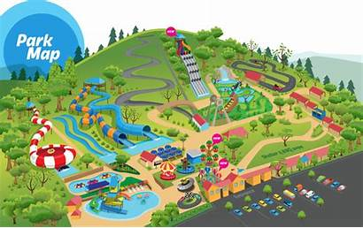 Park Clipart Amusement Map Cartoon Clipground