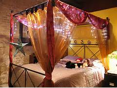 Decoration Beautiful Lighting In Decorating Canopy Bed For Kids Luxury Bathtub Option With Floral Curtain Embellish Beautiful Crystal Bedroom Christmas Lights 7 Elegant Light Curtain Tags Bedroom Curtains Romantic Romantic Bedroom Curtains