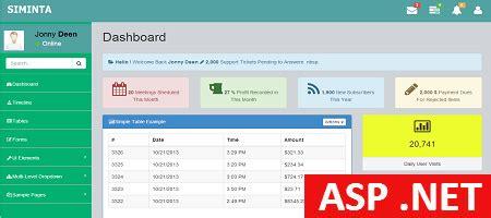asp net admin template siminta mini binary theme
