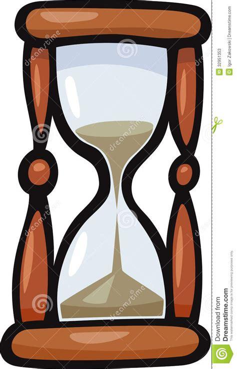 hourglass clip art cartoon illustration stock vector