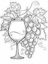 Coloring Wine Alcohol Books sketch template