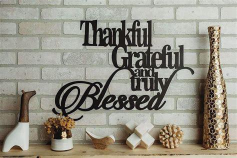 thankful grateful   blessed metal sign christian wall art metal shack  metal