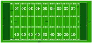 Horizontal Colored Football Field Sample