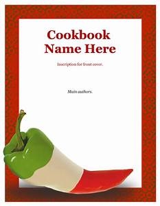 7 best images of recipe book cover template free recipe With cookbook covers template