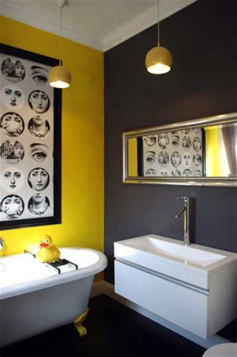 Yellow And Gray Bathroom Wall by 25 Modern Bathroom Ideas Adding Yellow Accents To