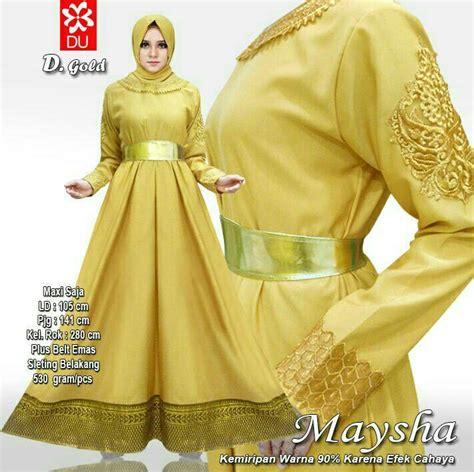 Gamis Gold warna mustard gold desainrumahid
