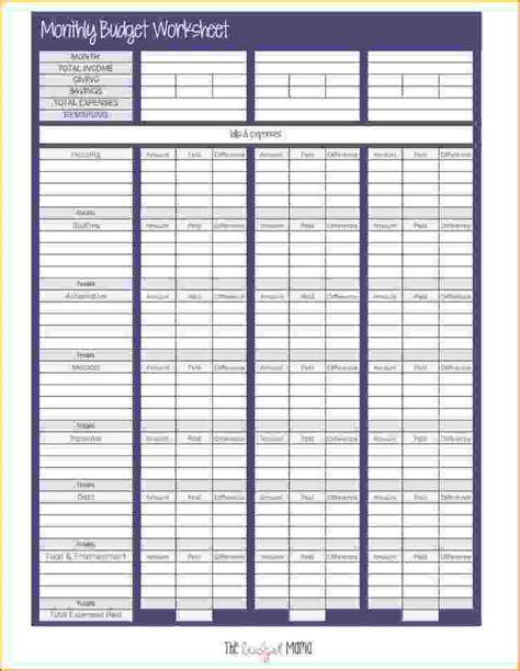 6+ Budget Sheet Pdf Teknoswitch