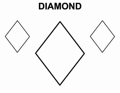 Diamond Coloring Shape Draw Pages Learning Preschoolers