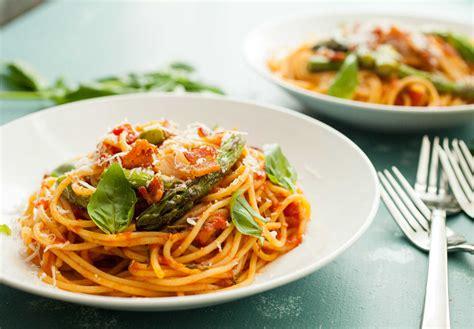 bacon asparagus spaghetti recipe macheesmo