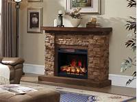 electric stone fireplace Grand Canyon 28-In Stacked Stone Infrared Electric ...