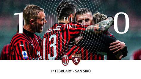 November 24th, 2020, 3:00 pm. AC Milan vs Torino Serie A 2019/2020