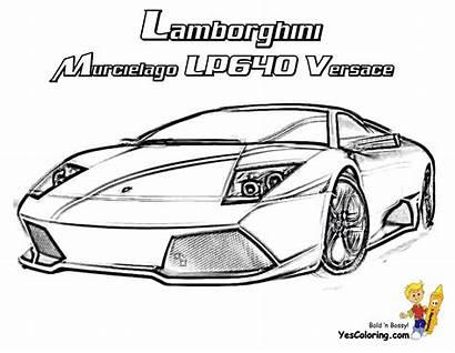 Lamborghini Coloring Pages Cars Murcielago Draw Versace
