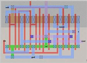 Integrated Circuit - 1bit Full Adder Cell In Ic Not Working As Supposed