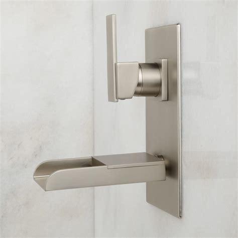 wall mount waterfall tub faucet signature hardware willis wall mount bathroom waterfall