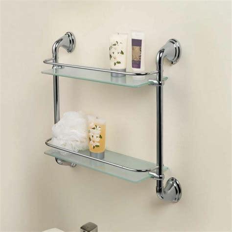 chrome  tier glass wall mounted bath bathroom shelves
