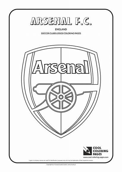 Arsenal Coloring Pages Soccer Logos Cool Football