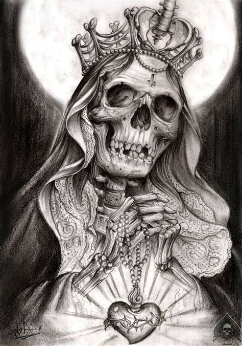 Best Santa Muerte Drawings Ideas And Images On Bing Find What