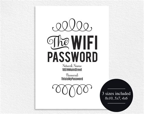 Wifi Password Template Free Pictures To Pin On Pinterest Paint Colors For Small Kitchens Kitchen Gardens Unfinished Discount Cabinets Stainless Steel Accessories Western Ideas Upholstered Chairs Wholesale Gadgets Composting