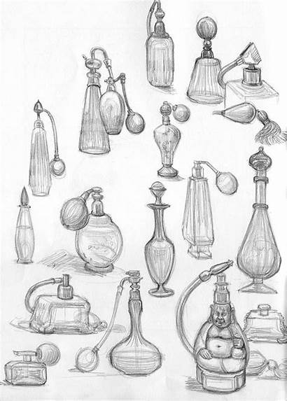Perfume Bottle Sketch Sketches Drawing Tattoo Bottles