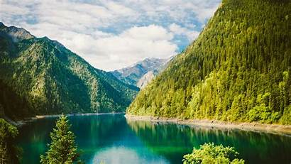 Nature Sichuan Mountain Forest Lake China Wallpapers