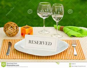 Reserved Sign In Dinner Plate Royalty Free Stock Photos ...