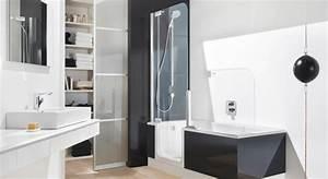 Baignoire Avec Porte Lapeyre : 4 baignoires douches avec ou sans porte ~ Premium-room.com Idées de Décoration