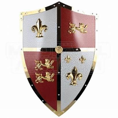 Shield Lion English Royal Shields Medieval Armour