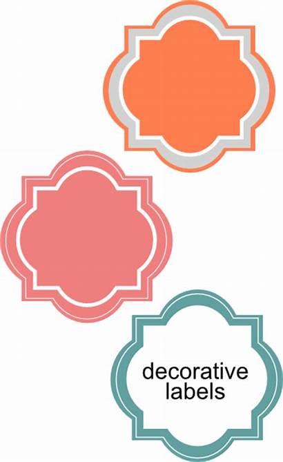 Decorative Labels Clipart Clip Clker Svg Vector
