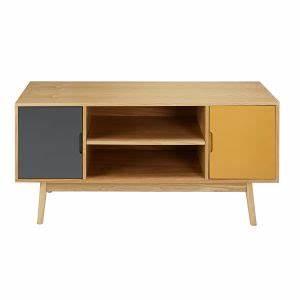 Meuble Tv Vintage : mueble de tv vintage con 2 puertas blanco y gris maisons du monde ~ Teatrodelosmanantiales.com Idées de Décoration