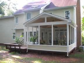 sceen porches images screened porch and deck screened