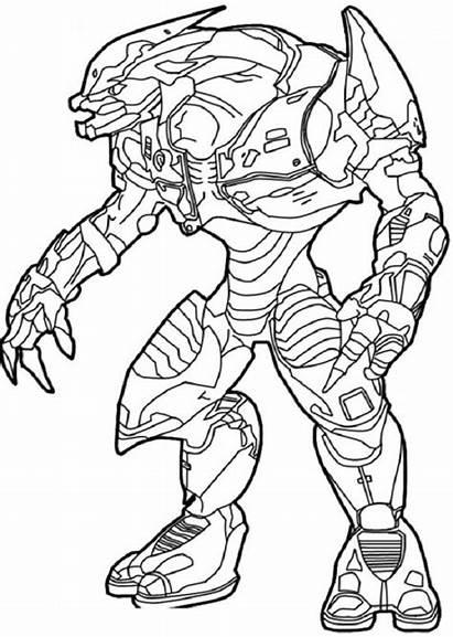 Halo Coloring Colorear Dibujos Master Imprimir Chief