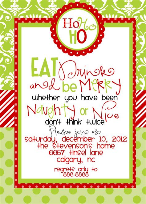 christmas invite quotes invitations templates free printables search