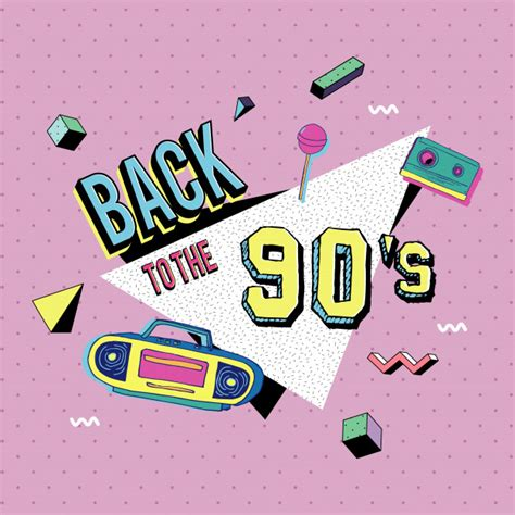 Back To The 90 by Back To The 90s Style Vector Premium
