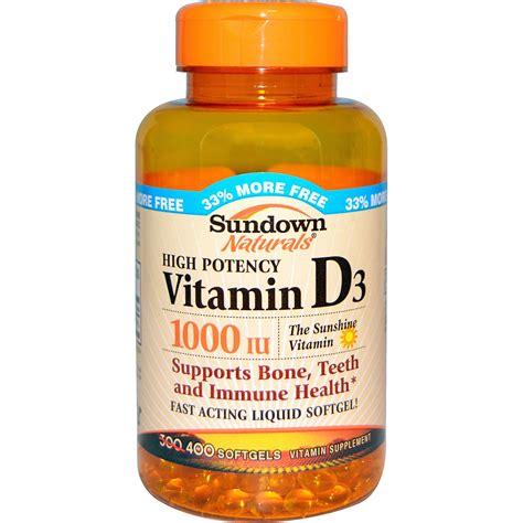 sundown naturals vitamin d3 1000 iu 400 softgels