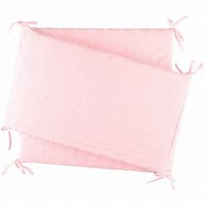 Lit Cocon Bébé : tour de lit jersey rose cocon de noukies sur allob b ~ Teatrodelosmanantiales.com Idées de Décoration