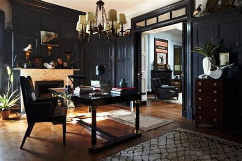 Home Interior Black Art : Elegant Dark Interior Design In The 20s Style