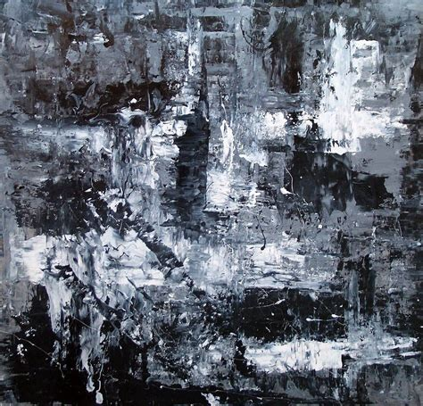 Black And White Abstract Uk by Black And White Abstract Monochromatic Abstract Painting