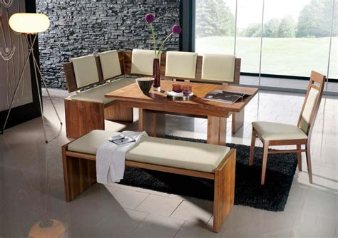 corner dining table with chairs modern bench style dining table set ideas homesfeed