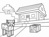 Minecraft Coloring Pages sketch template