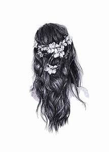 with flowers in her hair | Tumblr