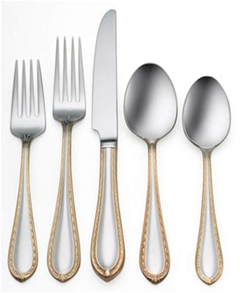 waterford powerscourt gold stainless flatware collection