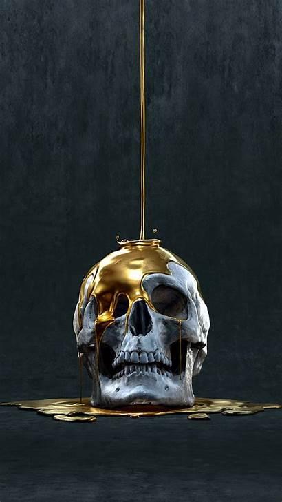 Skull Wallpapers Dripping Artwork Skeleton Drip Calaveras