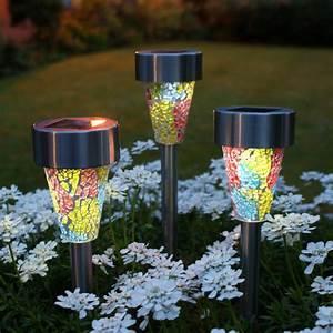 Solar garden lights glass roselawnlutheran