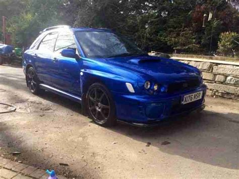 modified subaru impreza hatchback subaru impreza wrx wagon estate 345 bhp blue modified sti