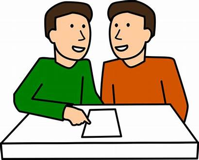 Clipart Together Partner Working Clip Students Trabajo
