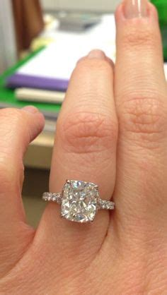 elongated cushion cut engagement ring 1000 ideas about cushion solitaire on cushion cut engagement rings and solitaire